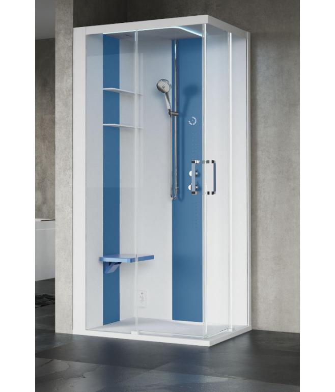 Skill angolare 100x80 cabina doccia multifunzioni - Cabine doccia multifunzione novellini ...