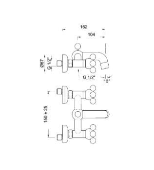 GIROTONDO Gruppo vasca duplex FANTINI