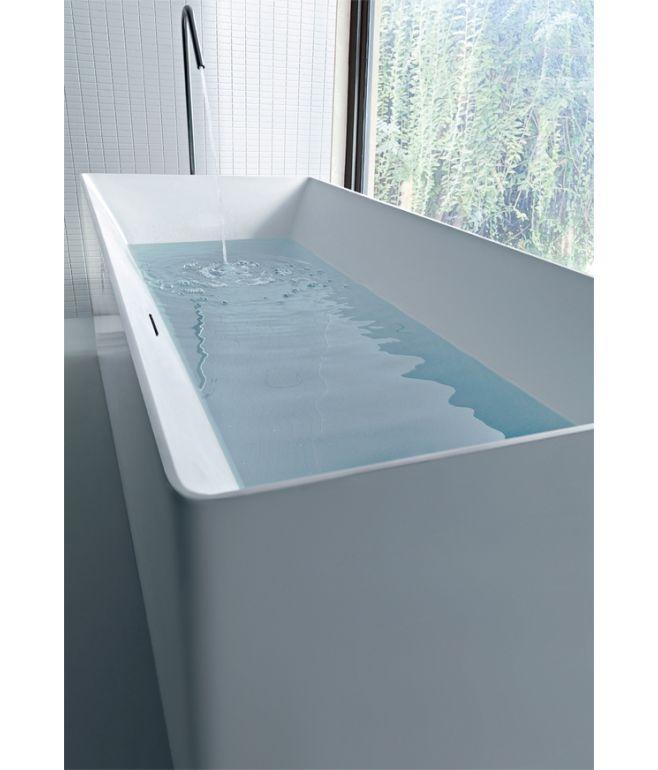 Vasca da bagno freestanding ATMOSFERE RETTANGOLARE COLACRIL ...