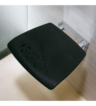 Sedile reclinabile per doccia con seduta Bianco o Nera