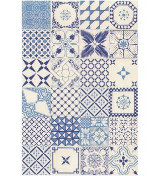 Piastrella 20x20 Macramè  Blu