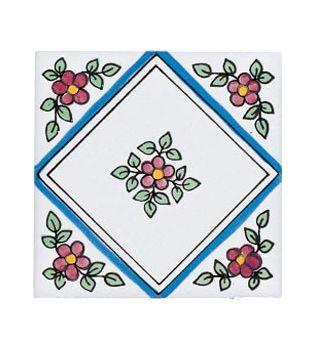 Piastrelle 10x10 decoro Fabiola con fiore
