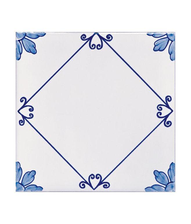 Piastrelle 20x20 decoro sofia azzurro for Piastrelle bagno 20 x 20 bianche