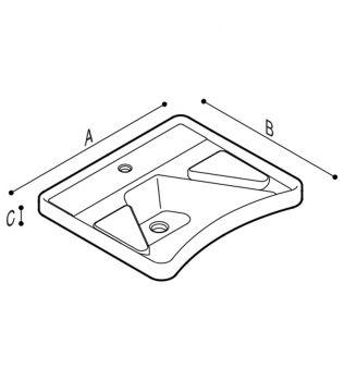DISABILI Lavabo ergonomico con poggia gomiti