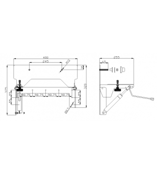 Meccanismo pneumatico di inclinazione per lavabo 130