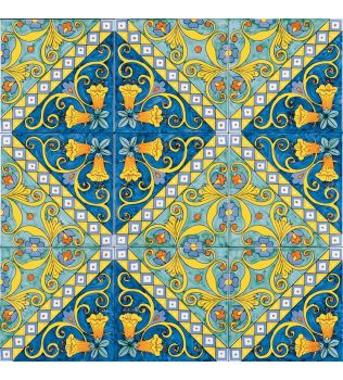 Piastrella 20x20 decoro serie MEDITERRANEA