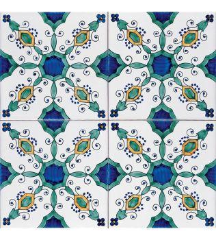 Piastrella 20x20 decoro VENTOTENE G.De Maio