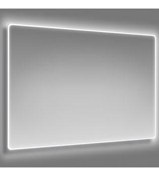 SPECCHIO retroilluminato a LED e cornice satinata