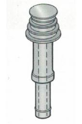 Terminale coassiale verticale a tetto