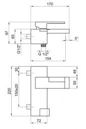 AR38 Miscelatore esterno vasca Cromo FANTINI