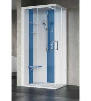 SKILL Angolare 100x80 Cabina doccia multifunzioni Novellini