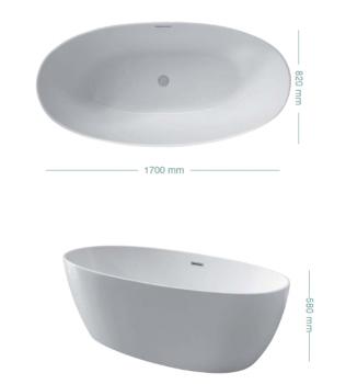 Vasca da bagno freestanding CAPRI COLACRIL
