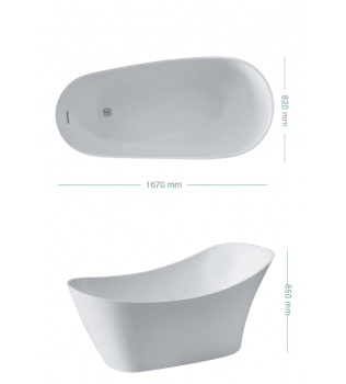 Vasca da bagno freestanding VENEZIA COLACRIL