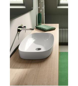GREEN LUX Lavabo ad appoggio, semincasso, su mobile CATALANO