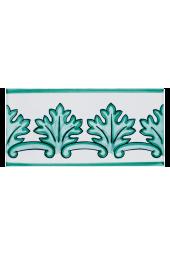 Listello Vietrese 10x20 decoro Quercia Verde Rame