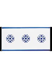 Listello Vietrese 10x20 decoro Angoli Rosetta Blu