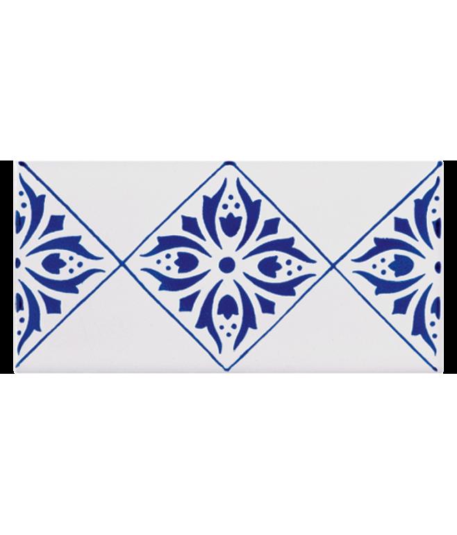 Listello Vietrese 10x20 decoro Antonella Blu