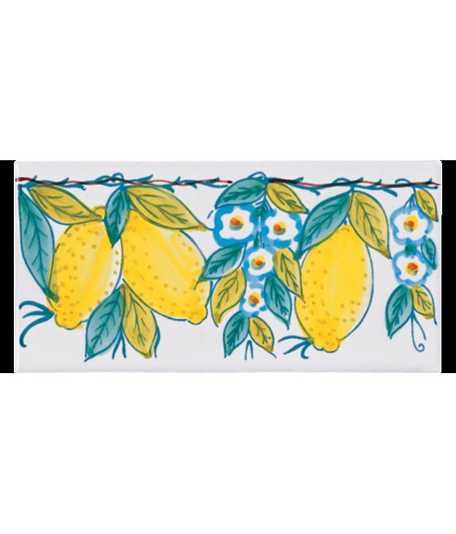 Listello Vietrese 10x20 decoro Limoni