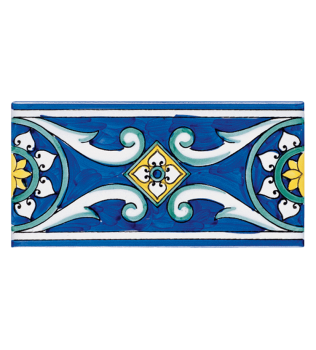 Listello Vietrese 10x20 decoro Iside