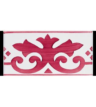 Listello Vietrese 10x20 decoro Ercolano Rosso