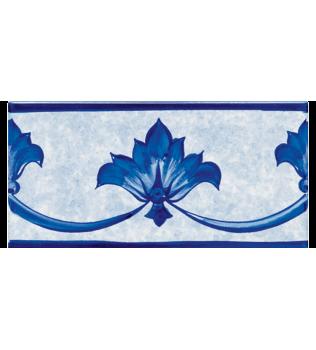 Listello Vietrese 10x20 decoro Anacapri Blu