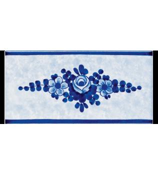 Listello Vietrese 10x20 decoro Roseto Blu
