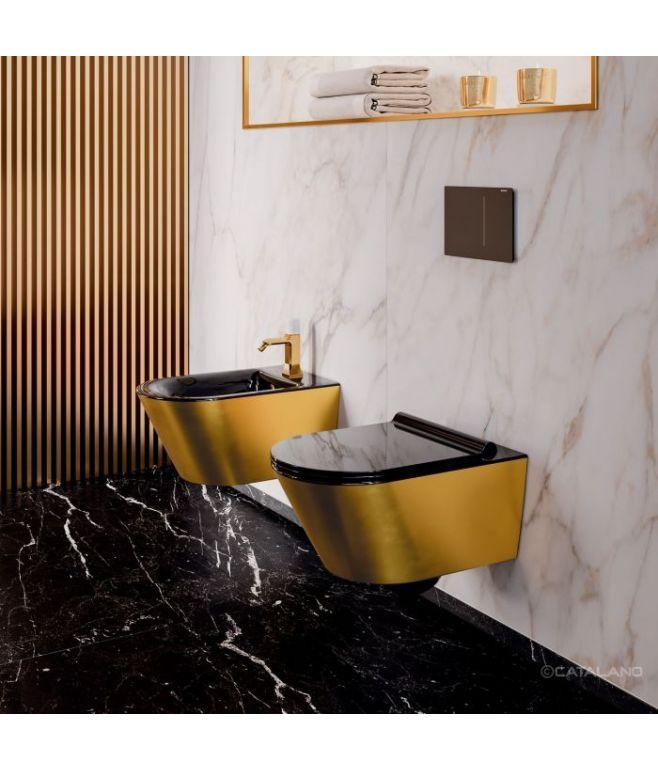 GOLD&SILVER Vaso e bidet sospesi con sedile soft close CATALANO