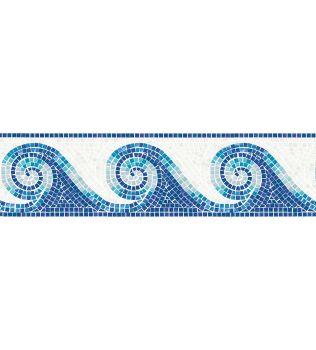 FADO Decoro lineare in mosaico vetroso Aquatica Trend