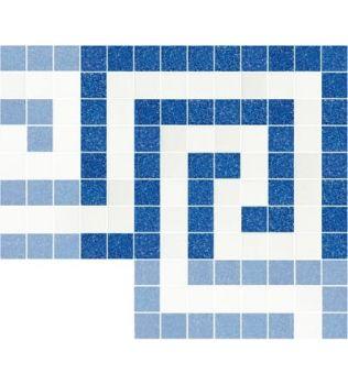 SAMBA Decoro angolare in mosaico vetroso Aquatica Trend