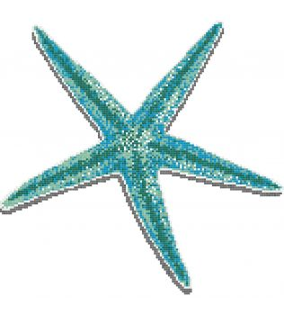 STELLA MARINA Decoro singolo in mosaico vetroso Aquatica Trend