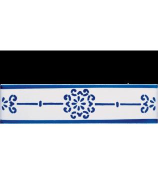 Listello 5x20 Brigida decorato a mano G.De Maio