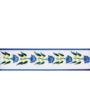 Listello 5x20 Eleonora decorato a mano G.De Maio
