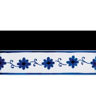 Listello 5x20 Laura Blu decorato a mano G.De Maio