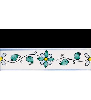 Listello 5x20 Leda decorato a mano G.De Maio