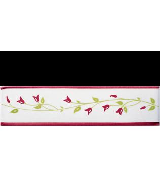 Listello 5x20 Lia Rosso decorato a mano G.De Maio