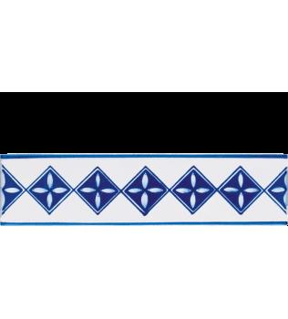 Listello 5x20 Marilena Blu decorato a mano G.De Maio