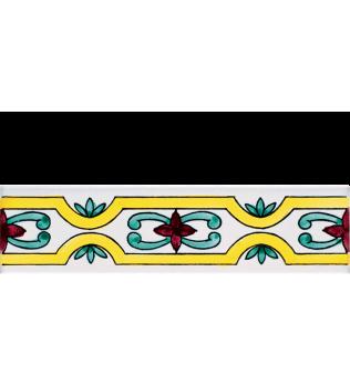 Listello 5x20 Minori decorato a mano G.De Maio