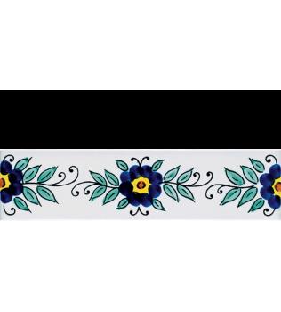 Listello 5x20 Mirella decorato a mano G.De Maio