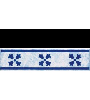 Listello 5x20 Nisida Blu decorato a mano G.De Maio