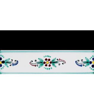 Listello 5x20 Rossella decorato a mano G.De Maio