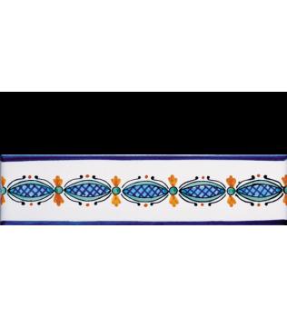 Listello 5x20 Salina decorato a mano G.De Maio